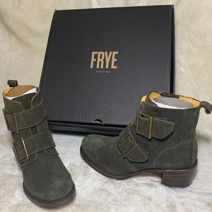 Frye Sabrina Double Buckle Boots, Fatigue